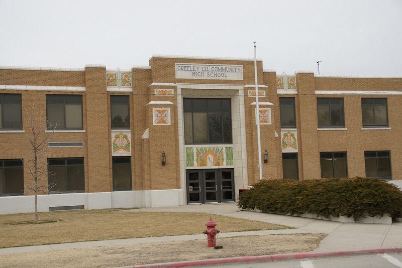 Greeley county high school in Tribune.
