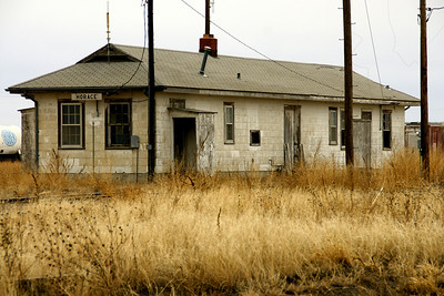 Former railroad depot in Horace