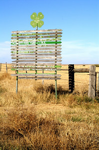 Farm and ranch directory sign