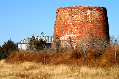 Remnants of Stone Water Tower at Coolidge