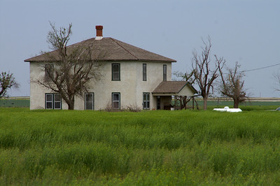 Abandoned farm house - western Haskell County