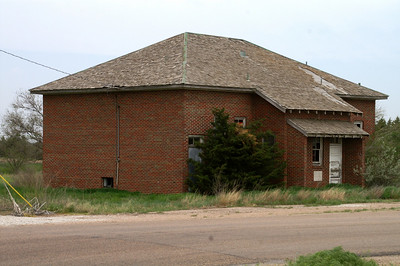 Abandoned Colusa School - northeast Haskell County