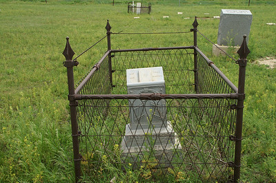 Fenced plot at Ivanhoe Cemetery - northern Haskell County