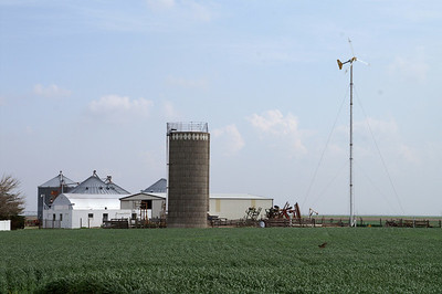 Farm with windmill - northern Haskell County