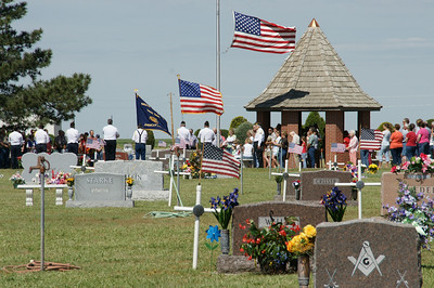 Memorial Day service at Haskell County Cemetery