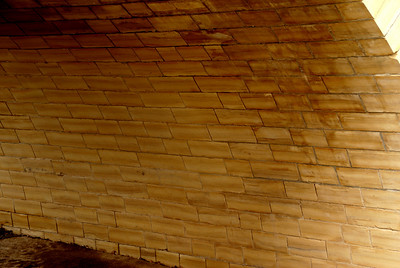 Masonry work in arch of Stoecker bridge