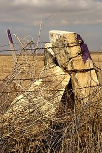 Post rock corner posts - northern Hodgeman County