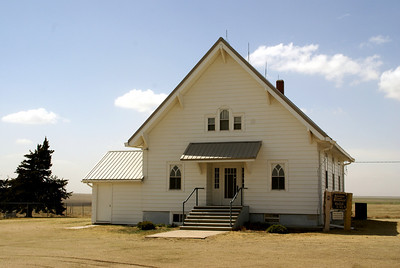 Hanston Mennonite Church northwest of town