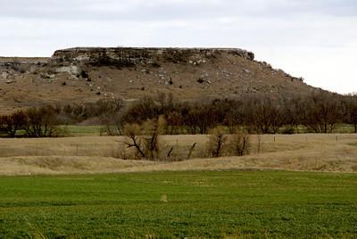 Point of Rocks landmark - southeast Hodgeman County