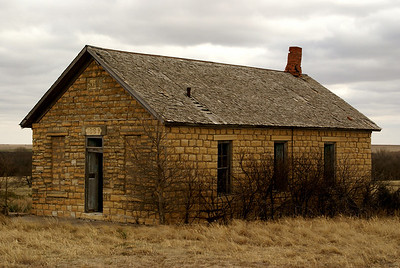 Kidderville school - northwest Hodgeman County