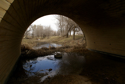 Cottonwood Creek passing thru arch of Stoecker bridge