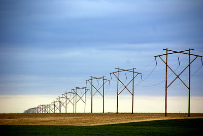 High power electric transmission line - southeast Hodgeman County