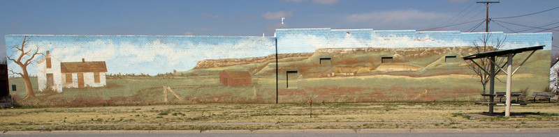 Sawlog Creek (Point of Rocks) Mural in Jetmore