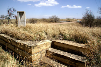 Duncan's Crossing monument near Pawnee River - Northeast Hodgeman County