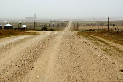 Blowing dust north of Hanston