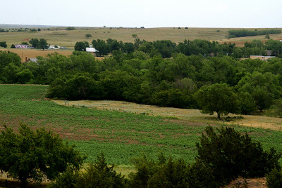 View of Belvidere from hillside west of town