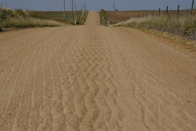 Interesting pattern in sand along road in southern Kiowa County