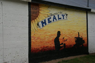 Town mural in Healy