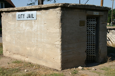 1912 concrete jail in Fowler