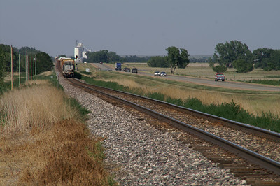 Train passing near Fowler