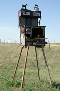 """Open Range"" sculpture - southern Meade County"