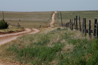 Rural road near Oklahoma line - southern Meade County