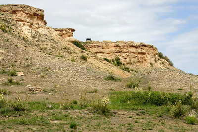 Point of Rocks area along Cimmaron River. In Cimmaron National Grasslands.Well known landmark along Santa Fe Trail.