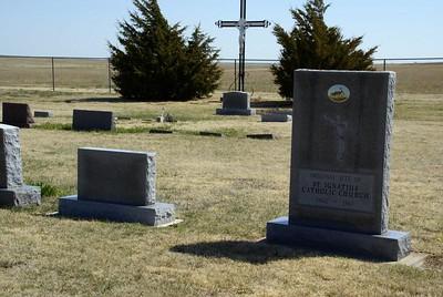 St Ignatius Cemetery - southwest Ness County