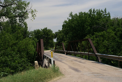 Pony truss bridge over Walnut Creek near Bazine