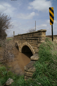 Double Masonry arch bridge over branch of Sand Creek NW of LaCrosse