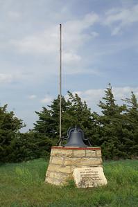 Entre Nous College monument northeast of McCracken