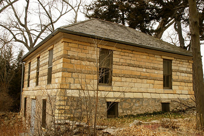 Steele homestead house at Lake Scott state park