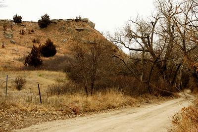 Road leading into Timber Canyon near Lake Scott