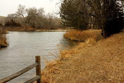 Big Springs pond area at Lake Scott State Park