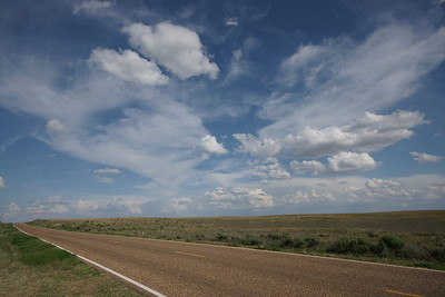 Puffy cumulus clouds in southeast Seward County. Taken with super wide angle lens.