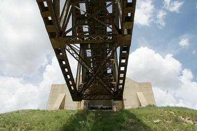 Underside of Samson railroad bridge over the Cimmaron River NE of Liberal