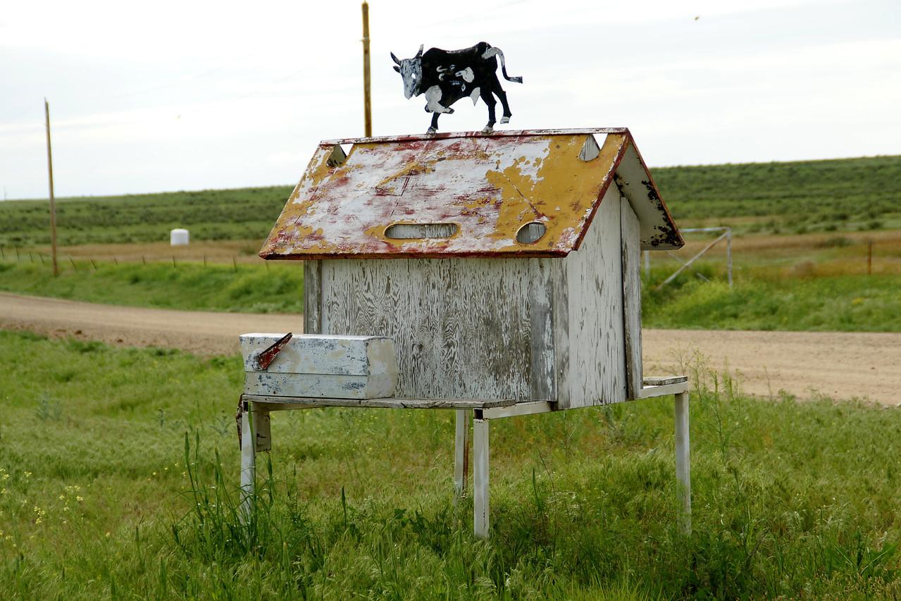 Mailbox art - southwest Stanton County.