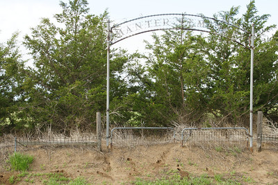 Manter Cemetery entrance - cemetery is now abandoned
