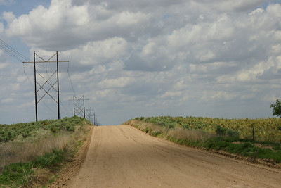 High Plains road - southern Stevens County