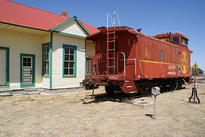 Depot and caboose at Selkirk