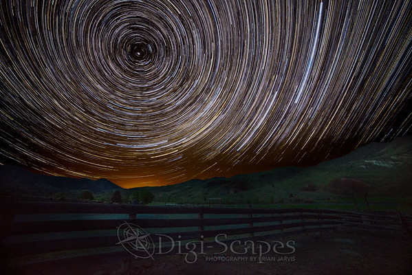 Star Trails Over the Hills