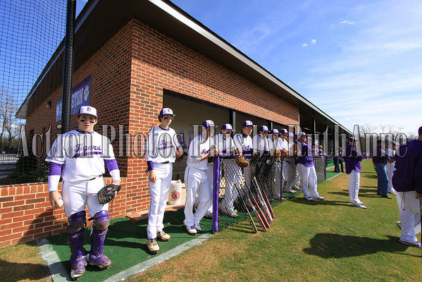 Darlington School Baseball Facility Dedication adn ribbon cutting ceremony. Left to right: Oren Wilson, Norris Allen Jr., Tom Whitworth, Lou Dempsey, Chris Frix, Rocky Tillery, Barry Henderson, Rich Flournoy, Cole Miller, Kent Harrison