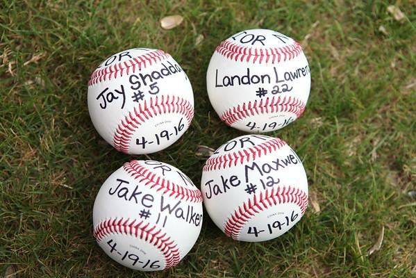 Baseball Senior Night 2016