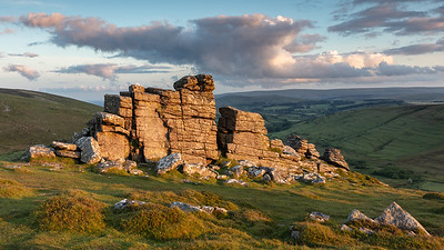 Last light on Hookney Tor