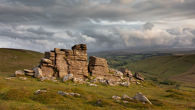 Moody light on Hookney Tor