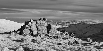Infra-Red - Late evening light on Hookney Tor