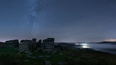 The Winter Milky Way over Combstone Tor - 1