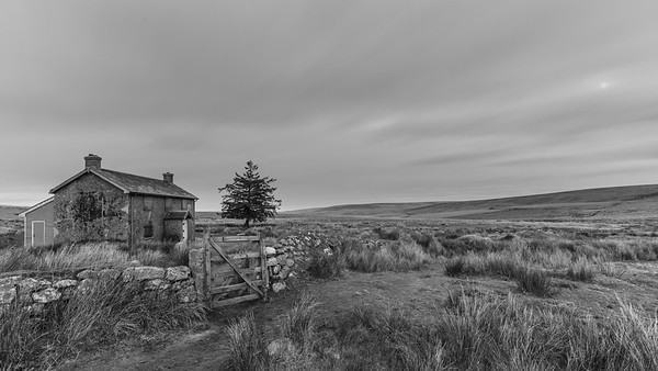 Nuns Cross Farm by moonlight, Dartmoor