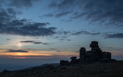 Great Staple Tor - sunset silhouette