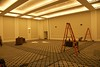 The West Ballroom. (I told you it is no longer an Inn but has become a Conference Center!)  This is what it looked like the day I arrived. Five hours later we christened it with its first dinner event.